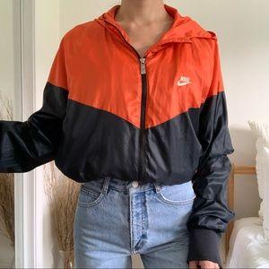 Nike WindBreaker Orange Zip Up Jacket